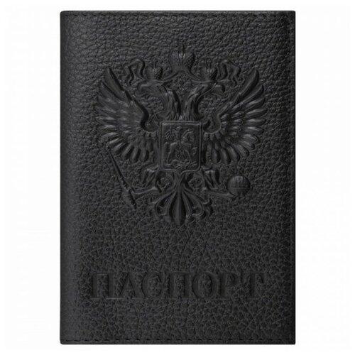 Обложка для паспорта BRAUBERG 237198, черный
