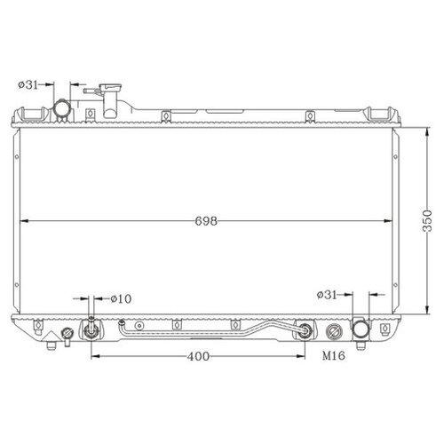 Основной радиатор (двигателя) MILES ACRB224 для Toyota RAV 4 I