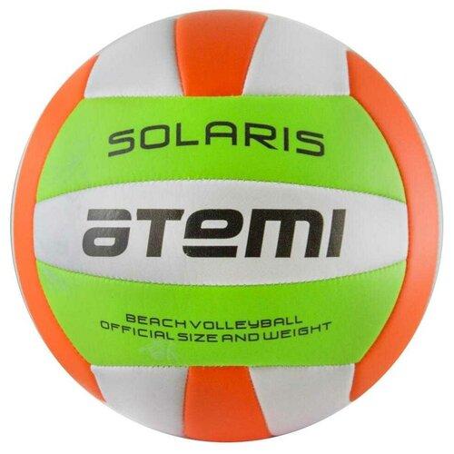 Волейбольный мяч ATEMI Solaris зеленый/белый/оранжевый