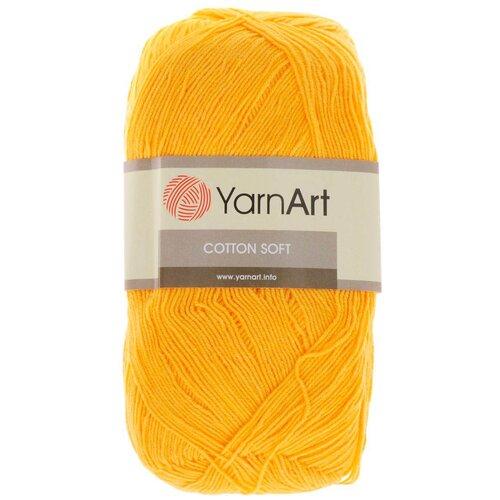 Купить Пряжа YarnArt 'Cotton soft' 100гр 600м (55% хлопок, 45% акрил) (35 желтый), 5 мотков