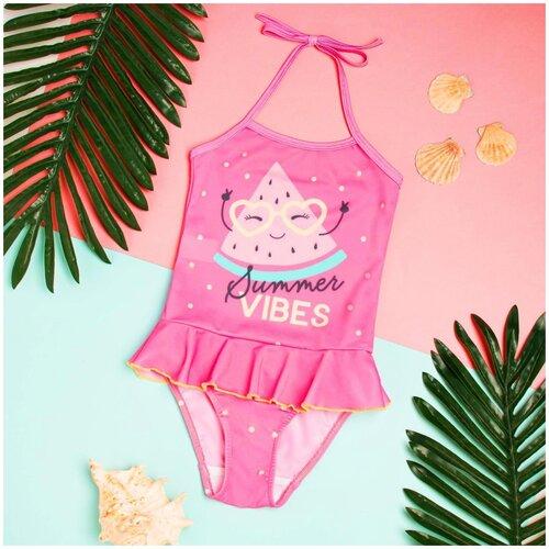 Купить Купальник Kaftan размер 122-128, розовый, Белье и купальники