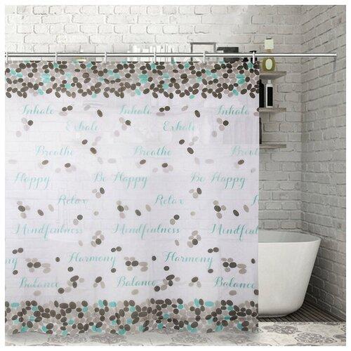 Штора для ванной Доляна Слова 180x180 слова штора для ванной доляна малевич 180x180 малевич