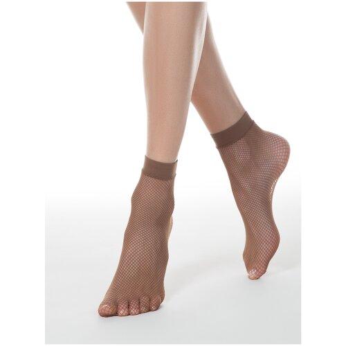 Капроновые носки Conte Elegant 17С-177СП, размер 23-25, bronz