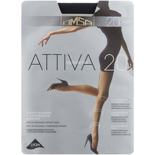 Колготки Omsa Attiva, 20 den, размер 5-XL, nero (черный) колготки omsa attiva 20 den размер 3 m nero черный