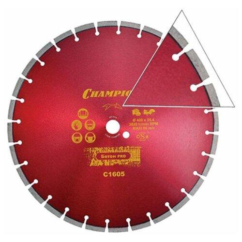 Диск алмазный CHAMPION бетон ST 400/25,4/10 Concremax (старый бетон, ж/б с наполн.сред.тв) (арт. C1605)