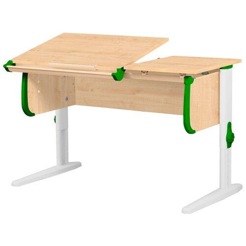 Фото - Стол детский ДЭМИ СУТ 25 120x55 см клен/зеленый/белый стол дэми white double сут 25 01д 120x82 см клен зеленый бежевый