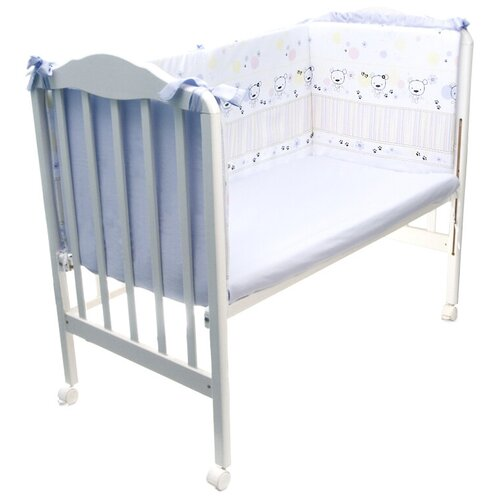 Фото - Сонный Гномик бортик Конфетти голубой комплекты в кроватку сонный гномик конфетти 6 предметов