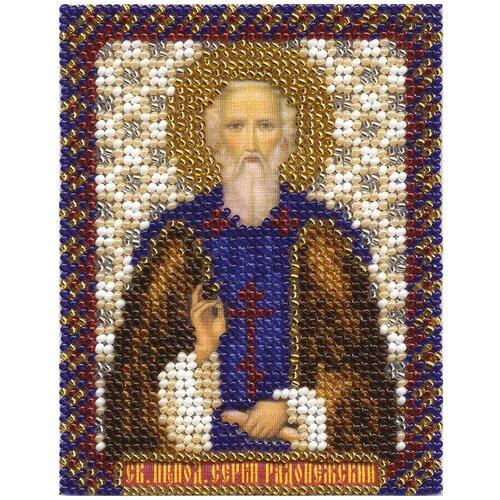 Купить PANNA Набор для вышивания бисером Икона Святого Преподобного Сергия Радонежского 8.5 x 10.5 см (CM-1303), Наборы для вышивания