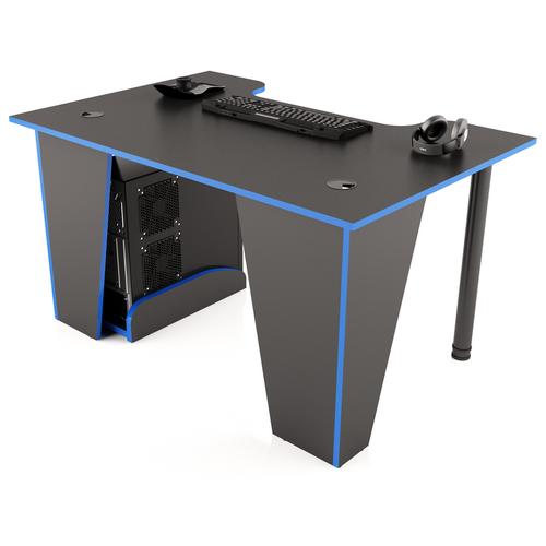 Игровой стол MaDXRacer XGAMER BASIC, ШхГ: 120х80 см, цвет: черный с синей кромкой
