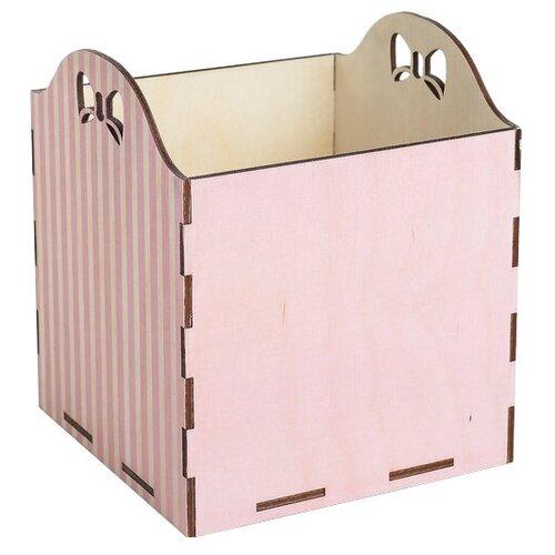 Кашпо Дарите счастье Полоски 15 х 15 х 16,8 см розовый кашпо дарите счастье фантазия 15 х 14 см белый