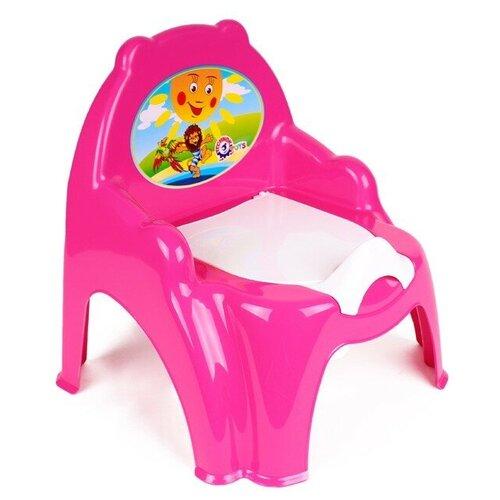 Горшок детский с крышкой и подлокотниками розовый технок / горшок детский для мальчика / горшок детский для девочки / детский горшок для мальчика / детский горшок для девочки / напольный горшок
