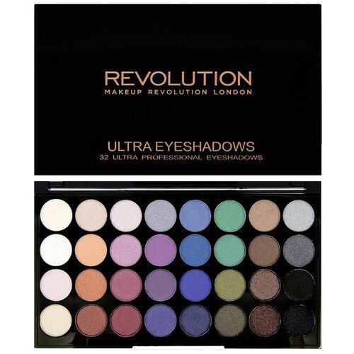 REVOLUTION Палетка теней Ultra 32 Eyeshadow Palette Mermaids Forever