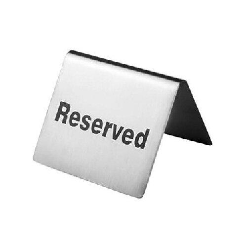 Табличка «Резерв»; сталь нерж., Prohotel, арт. SBT9
