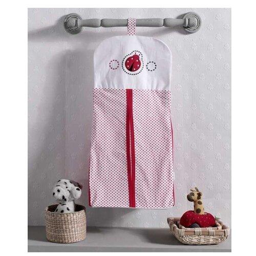 Купить Kidboo Прикроватная сумка Little Ladybug бело-красный, Органайзеры и карманы в кроватку