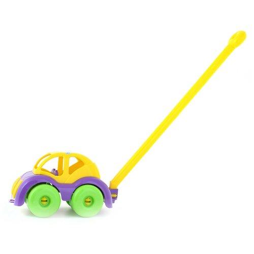 Каталка-игрушка Knopa Машинка (87022) фиолетовый/желтый/зеленый
