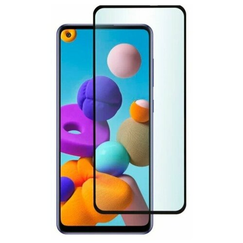 Полноэкранное защитное стекло для Samsung Galaxy A21, Galaxy A21s Full Glue Full Screen / Защитное стекло для Самсунг Галакси A21, и Галакси А21С / 3D Полная проклейка экрана (Черный)