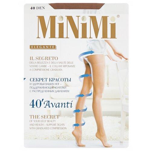 Фото - Колготки MiNiMi Avanti, 40 den, размер 4-L, daino (бежевый) колготки minimi slim control 40 den размер 4 l daino бежевый
