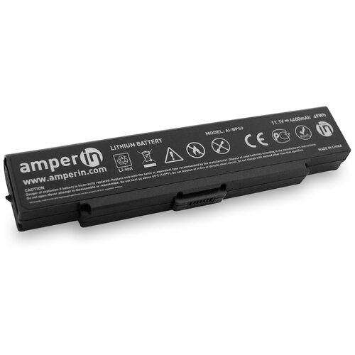 Аккумуляторная батарея Amperin для ноутбука Sony Vaio VGN-FE VGN-FS 11.1V 4400mAh черная AI-BPS2