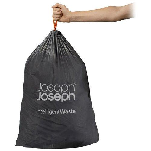 Мешки для мусора Joseph Joseph 30059 20 л, 20 шт., черный контейнер для мусора с прессом titan 20 л серый joseph joseph 30039