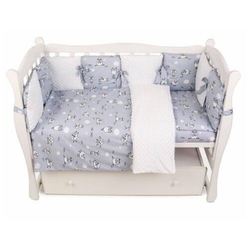 Amarobaby комплект в кроватку Exclusive Soft Collection 101 Барашек (4 предмета) серый amarobaby комплект в кроватку exclusive soft collection папоротники 7 предметов белый зеленый