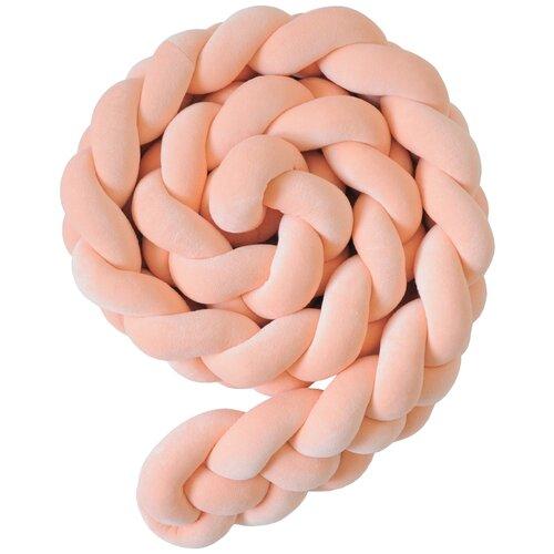 Купить Бортик для детской кровати Коса , Childrens-Textiles, хлопковый велюр, 2.3 м, цвет - корал, Childrens Textiles, Постельное белье и комплекты