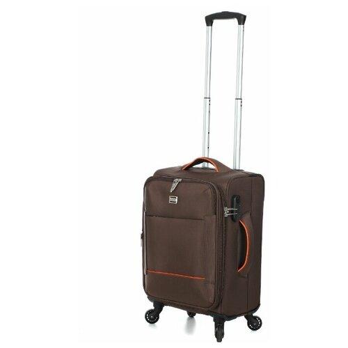 чемодан 55 см samsonite чемодан 55 см popsoda 40x55x20 см Чемодан REDMOND коричневый размер, Ручная кладь (до 55 см), Артикул SR06L18BR