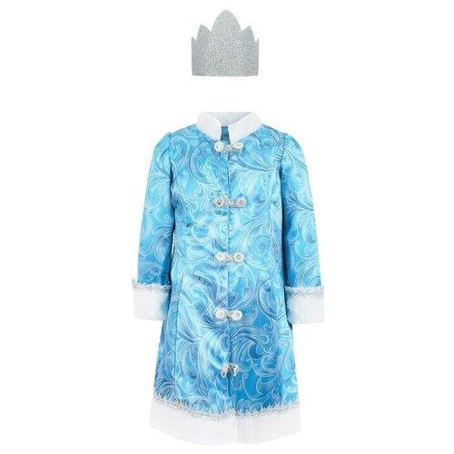 Фото - Костюм Батик Снегурочка сказочная (5227) Jeanees, голубой, размер 146 костюм батик леший 6074 коричневый размер 146