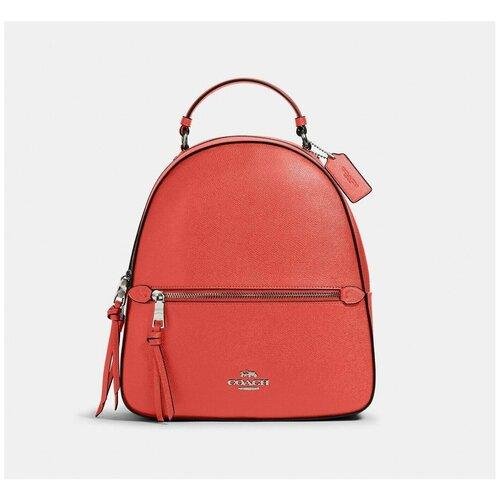 Женский кожаный рюкзак Coach Jordyn Tangerine