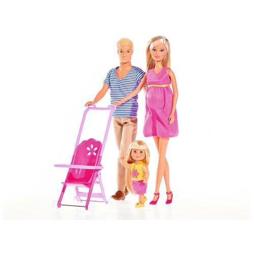 Фото - Набор кукол Steffi Love Семья Штеффи, 30, 29 и 12 см, 5733200029 набор кукол steffi love штеффи с новорожденным 29 см 5730861