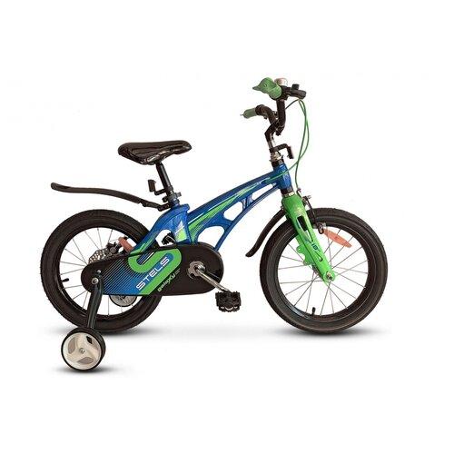 Детский велосипед STELS Galaxy Pro 18 V010 (2021) сине-зеленый (требует финальной сборки)
