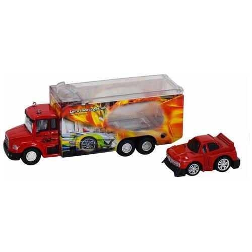 Автовоз Пламенный мотор 870527, красный