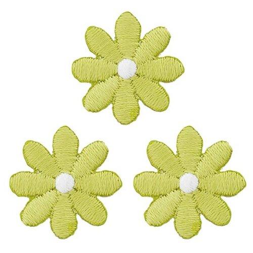 926728 Термоаппликация Цветы малые зел. Prym