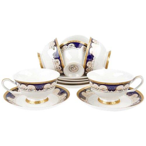 набор чайный best home porcelain indigo 200 мл 4 предмета Чайный сервиз Best Home Porcelain Indigo (подарочная упаковка), 6 персон, 12 предм.