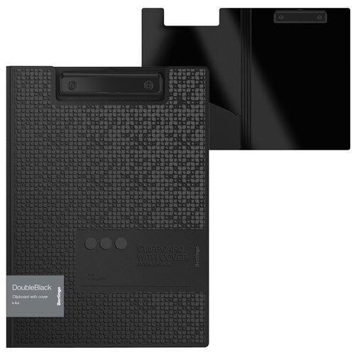 Купить Berlingo Папка-планшет с зажимом DoubleBlack А4, пластик черный, Файлы и папки