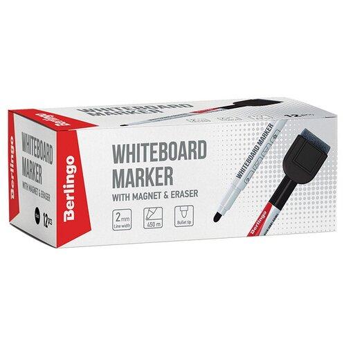 Купить Berlingo Набор черных маркеров для для белой доски Uniline WB220 (PM7214), 12 шт., Маркеры