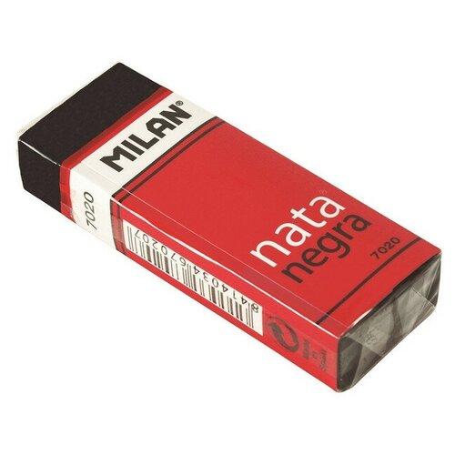 Купить Ластик пластиковый Milan 7020, мягкий, черный, в карт.держателе 3 штук, Ластики