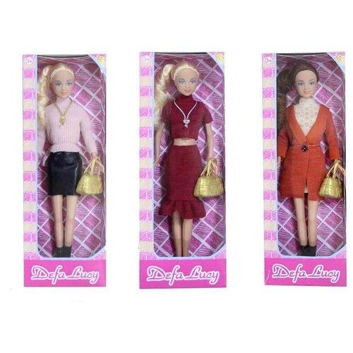 Кукла Defa Lucy Модница с сумочкой, 29 см, 8365 кукла defa lucy модница 29 см 8285
