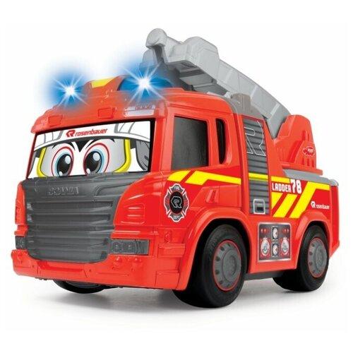 Фото - Пожарный автомобиль Dickie Toys Happy (3814016), 25 см, красный гидроцикл dickie toys пожарный сэм джуно с фигуркой и аксессуарами 9251662 красный желтый