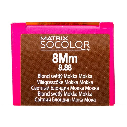 Купить Matrix Socolor Beauty стойкая крем-краска для волос, 8Mm светлый блондин мокка мокка, 90 мл