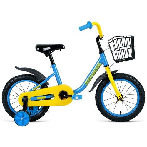 Детский велосипед FORWARD Barrio 14 (2021) синий (требует финальной сборки)