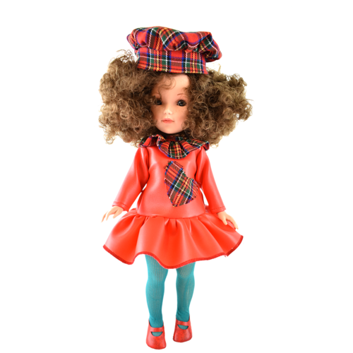 Купить Кукла Vidal Rojas Мари кудрявая брюнетка в красном платье (в подарочной коробке), 41 см, 4509, Куклы и пупсы