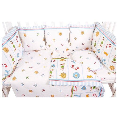Фото - Сонный Гномик бортики-подушки Маяк голубой сонный гномик бортики подушки стрекоза егоза розовый