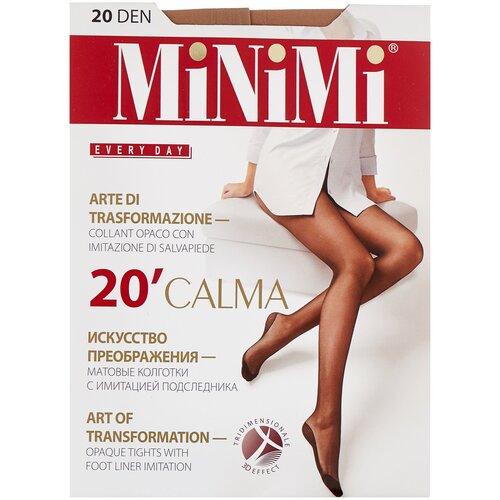 Колготки MiNiMi Calma, 20 den, размер 4-L, caramello (бежевый) колготки minimi calma 20 den размер 4 l daino бежевый
