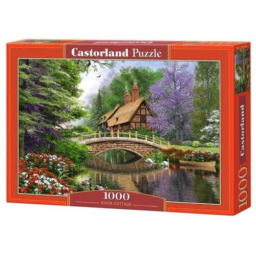 Купить Пазл Castorland Дом у реки, 1000 деталей (С-102365), Пазлы