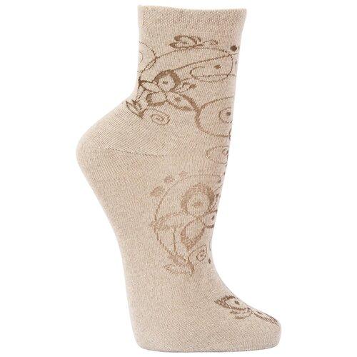 Носки женские Гамма С688, Бежевый, 23-25 (размер обуви 36-40)