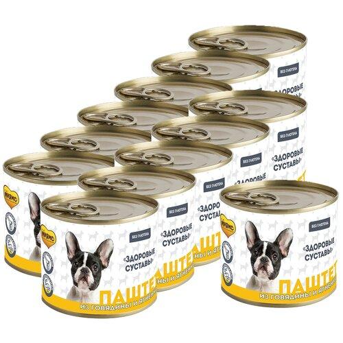 Фото - Мнямс Паштет из говядины и ягненка для собак всех пород «здоровые суставы» 200 г х 12 шт. консервы мнямс кусочки в соусе с говядиной и печенью для собак всех пород здоровые суставы 400 г