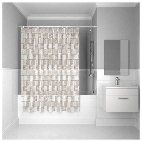 Штора для ванной комнаты, 180*180см, PEVA, P30PV11i11, IDDIS штора для ванной комнаты 180 180см peva p27pv11i11 iddis