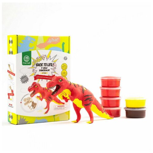 Купить Набор для творчества Robotime Мой личный динозавр! Тираннозавр деревянный конструктор + лепка, Сборные модели