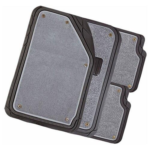 Фото - Комплект ковриков салона AUTOPROFI MAT-420 4 шт. черный/серый комплект ковриков autoprofi pet602 4 шт черный