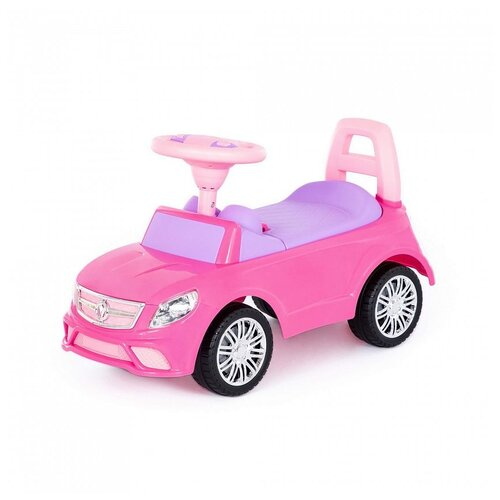 Купить Каталка-автомобиль Полесье SuperCar №3, со звуковым сигналом, розовая, Каталки и качалки